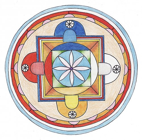 balíček - tibetská mandala