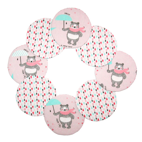 Podložka pod hrnek - růžový medvěd