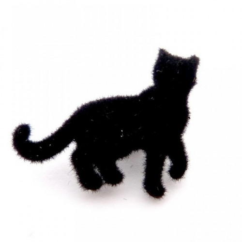 Knoflík s očkem kočička 30x26mm - šedá