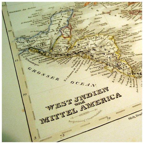 Historická mapa z roku 1850 INDIE AMERIKA č.1060