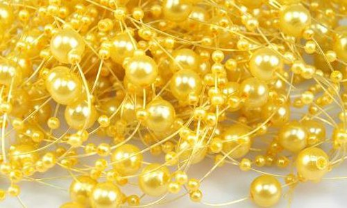 Perličky na silikonu: Žluté