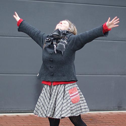 valentýnská ...dámská kolová sukně vel. M