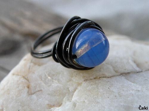 Prsten - měď - Modré nebe..........