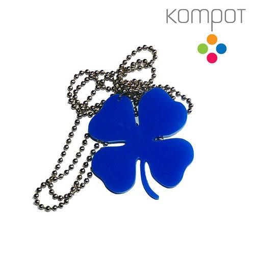 ČTYŘLÍSTEK, náhrdelník :: modrý