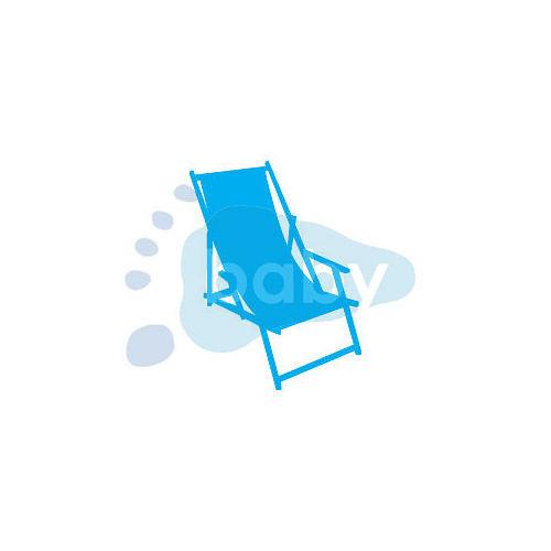 Razítko plážové lehátko 7,5 x 10 cm
