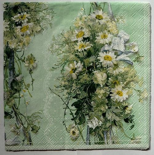 Ubrousek 33x33 - luční květy