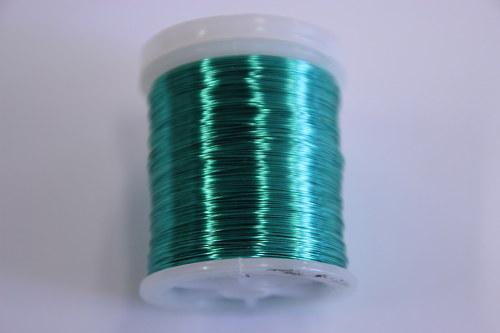 Měděný drátek 03mm - mint, návin 48,5-50m