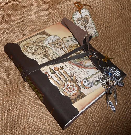 Kožený deník - Magie s citátem