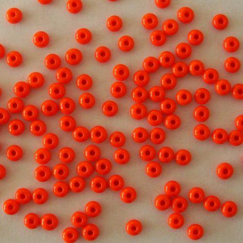 Skleněné korálky - rokajl 6/0 oranžový, sytý