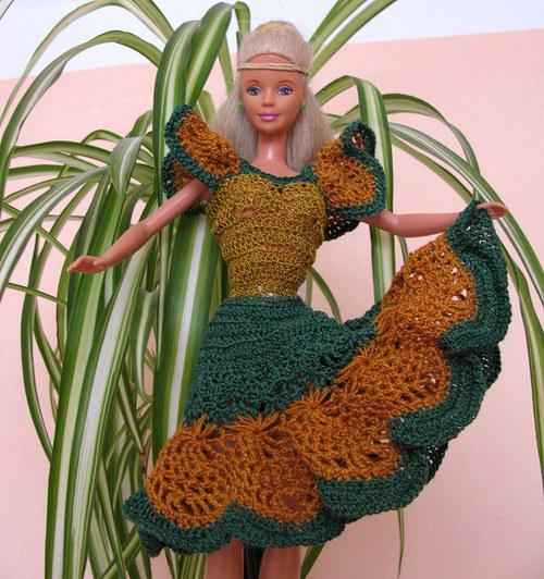 Podzimní víla - šatečky pro Barbie