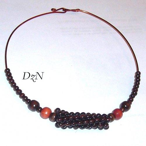náhrdelník s šitým korálkem 2