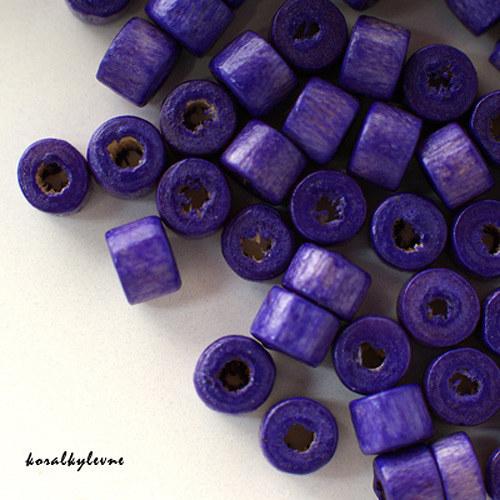 Donut dřevěný fialový 40ks!