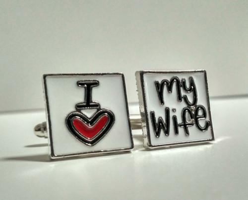 Manžetové knoflíčky skladem: Miluji svou ženu
