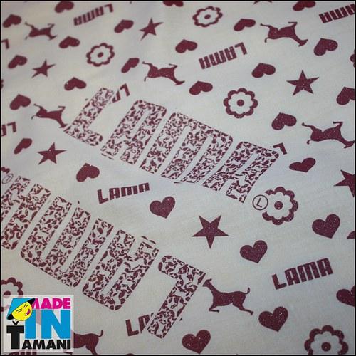 Dámský šátek Lama bílý
