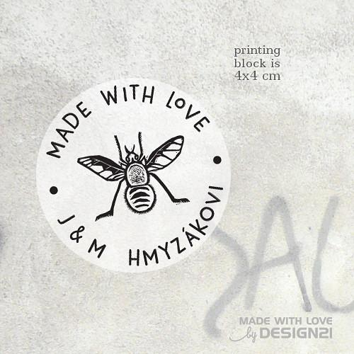 Hmyzák: kulaté razítko 4x4 cm