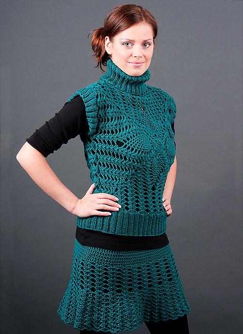 Popis - návod na háčkovanou sukni Emerald