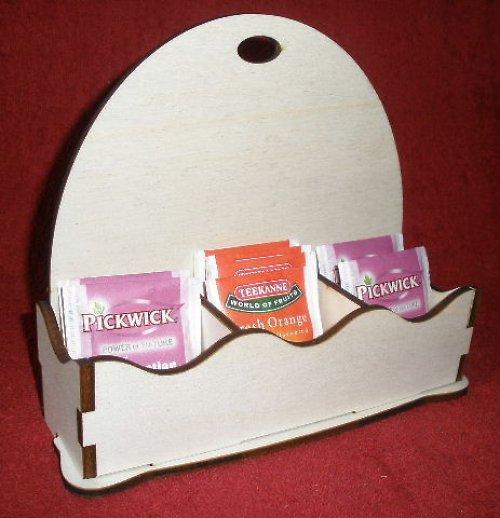 *Stojánek na čaj 3 komory - motiv OBLOUK