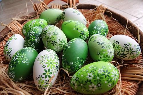 Kachní kraslice zelené