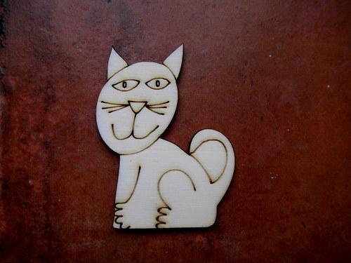 2D výřez Natálčina kočička -v.6,5x5cm