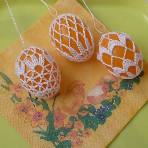 Sada 3 ks oranžových vajíček