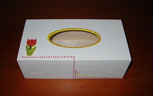 Krabička na kapesníky- tulipán