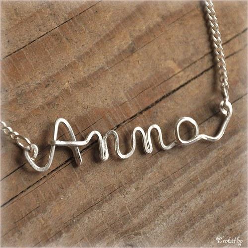 """Náhrdelník s menom / řetízek se jménem \""""Anna\"""""""