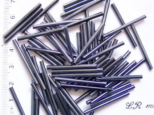 Skleněné tyčky hematitové 10 ks