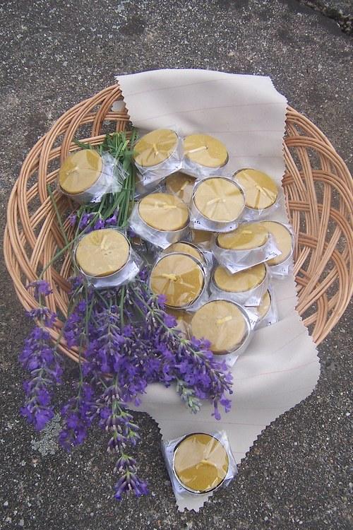 Čajové svíčky 100% včelí vosk