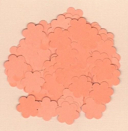 Kytička 2,5 cm - oranžové výseky (100 ks)