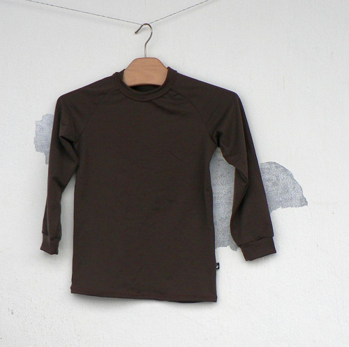 Merino tričko čokoláda