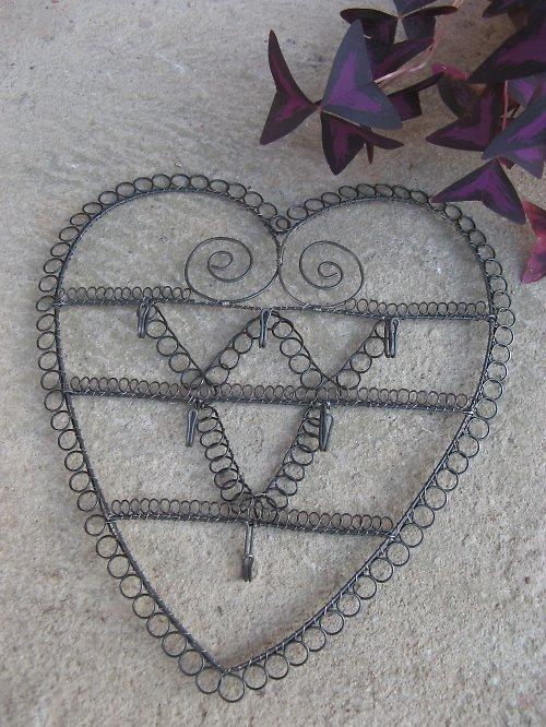 Věšák na klíče - srdce