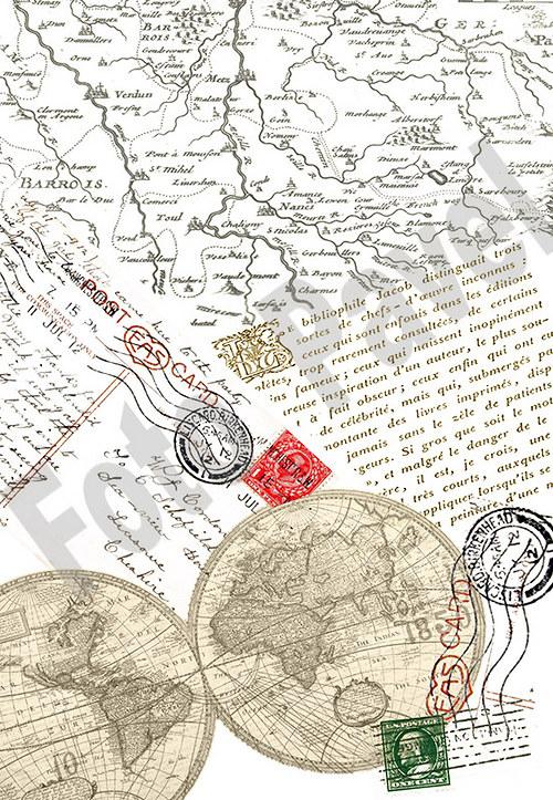 Vintage papír A5 -mapy