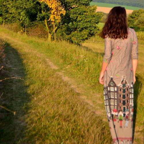 Holandský příběh II - dlouhé šaty HNĚDÉ