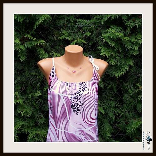 "Šaty ,,Purple Romance\""-SLEVA"