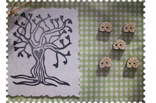 Dřevěný knoflíček - ulita