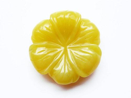 Květ ze žlutozeleného jadeitu ((PM43))