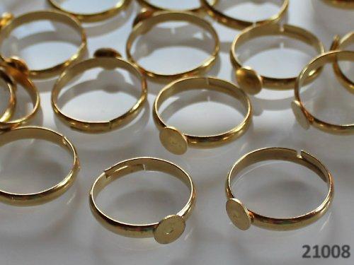 21008 Prsten základ ZLATÝ s lůžkem 6mm,  á 1ks