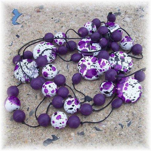 Trocha fantazie - fialový dalmatin