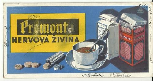Reklamní savý papír piják Promont lék