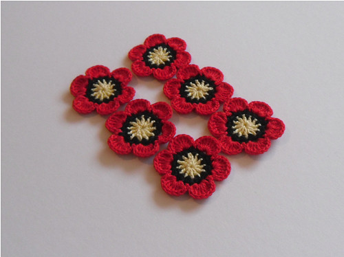 Sada květů červených