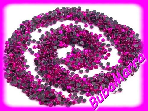 ~100ks~  nažehlovací kameny~ HOT FIX ~ tm. růžová