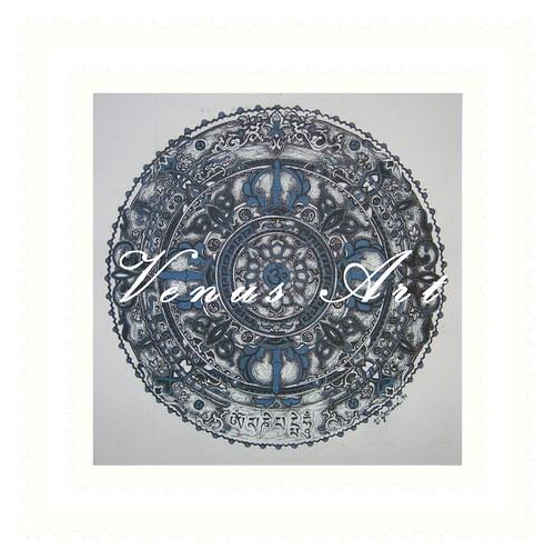 Mandala ÓM  - OM MANI PADME HUM  /menší/