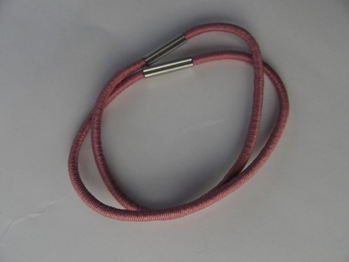 Gumička do vlasů, starorůžová 0,2 cm