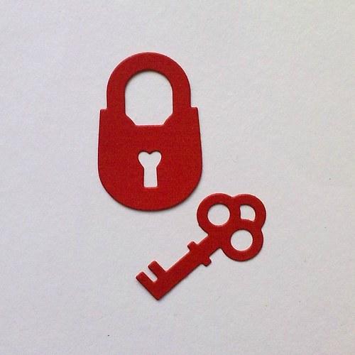 Výsek - Klíče a zámek 2ks