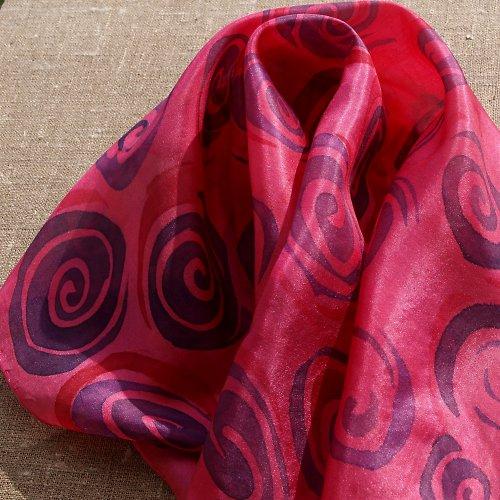 Spirály - hedvábný šátek