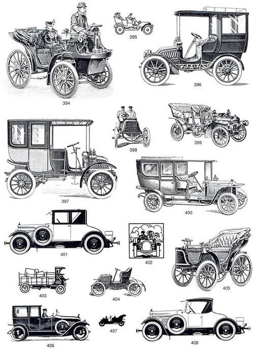 Vintage nažehlovací obrázky - Retro auta