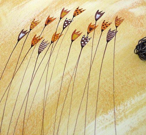 Sušák trpaslíků s alarmem - žlutý + kytky