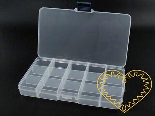 Plastový zásobník na korálky uzavíratelná krabička