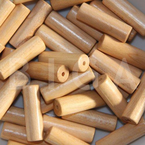 dřevěné korálky 8x28mm