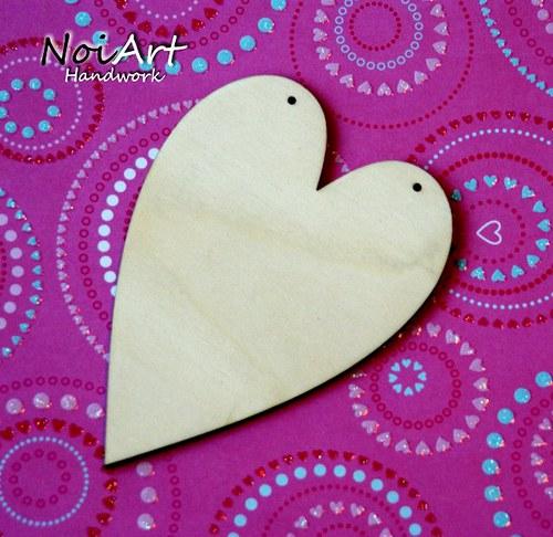 Srdce - predloha s dvomi dierkami na zavesenie